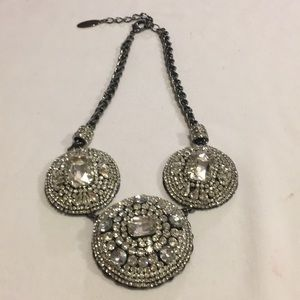 Chicos Stunning Circle Crystal Rhinestone Necklace